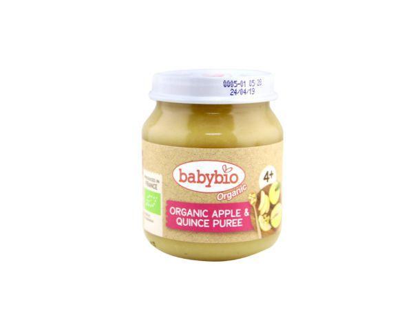 Babybio Apple-Quince (fr 4 mths), 130g
