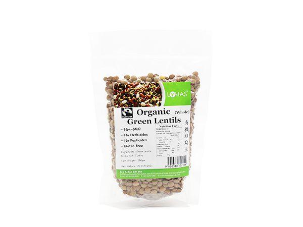Organic Green Lentil (Whole)