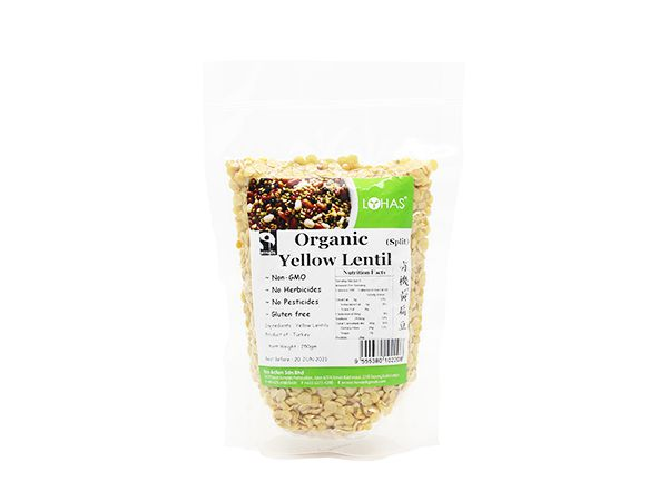 Organic Yellow Lentil (Split)