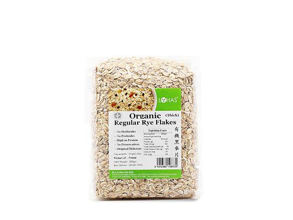 Organic Regular Rye Flakes (Thick)