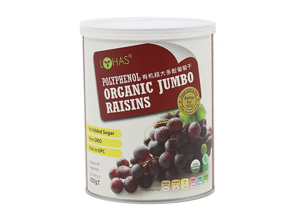 Organic Polyphenols Raisins (with seeds)