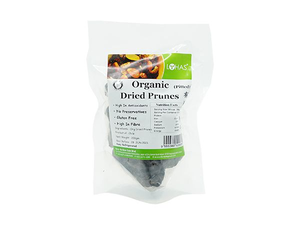 Organic Dried Prunes (Pitted)