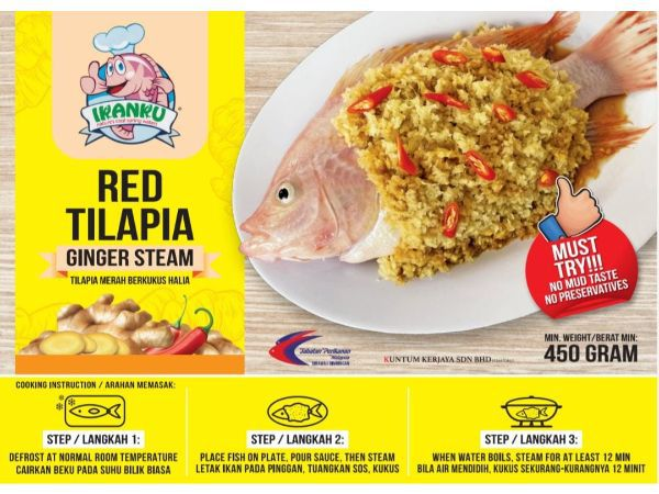Ikanku Red Tilapia Fish Ginger Steam