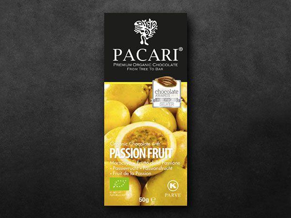 Pacari Passion Fruit Organic Chocolate (60%)
