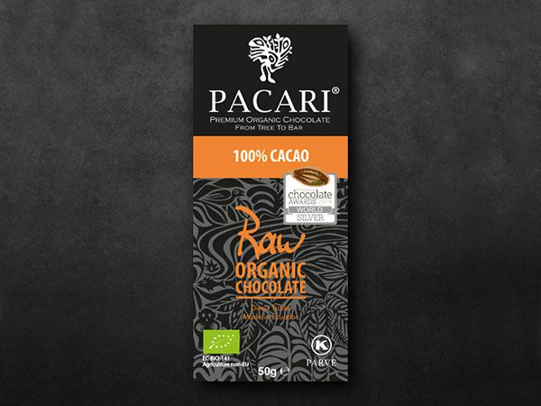 Pacari Raw Chocolate Bar 100%